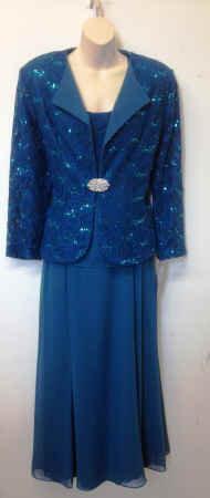 T3218 3pc Half Collar Lace Jacket Set