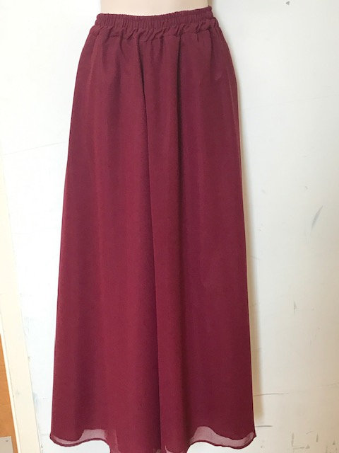 T 3063 Georgette A Line Skirt