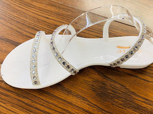 White Crystal Jelly Flats