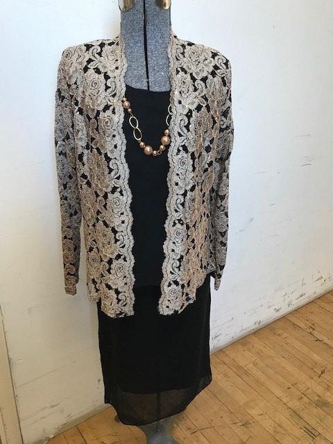 EL 3957 3pc  Lace Jacket Set