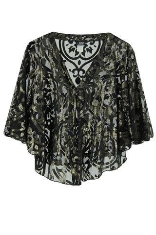 Soutach Cape Black/ Gold