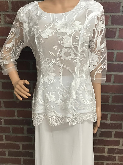 C 3053 2pc Designer Lace Blouse with Georgette Skirt