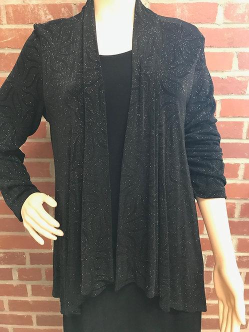 SR 109 877 Dressy Drape Jacket Black Sparkle