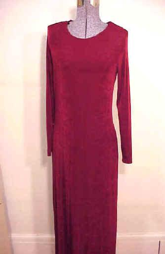 T1610 Long Sleeve Acetate Dress