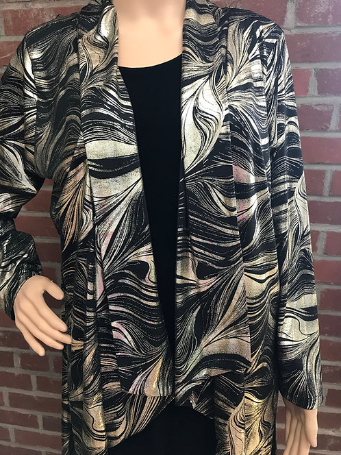 RL 424LP Dressy  Foil Drape Jacket Black/Gold