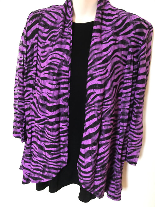 SR 777J Animal Print Lace Jacket