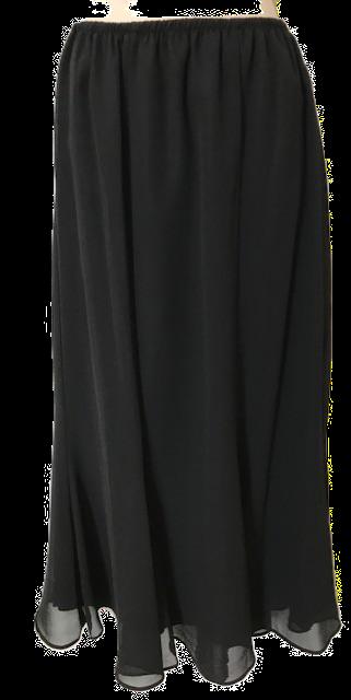 "S2348   34"" GeorgetteTrumpet Skirt"