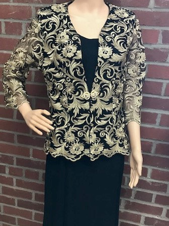 C 3052 3pc Lace Jacket with Georgette Tank and Skirt