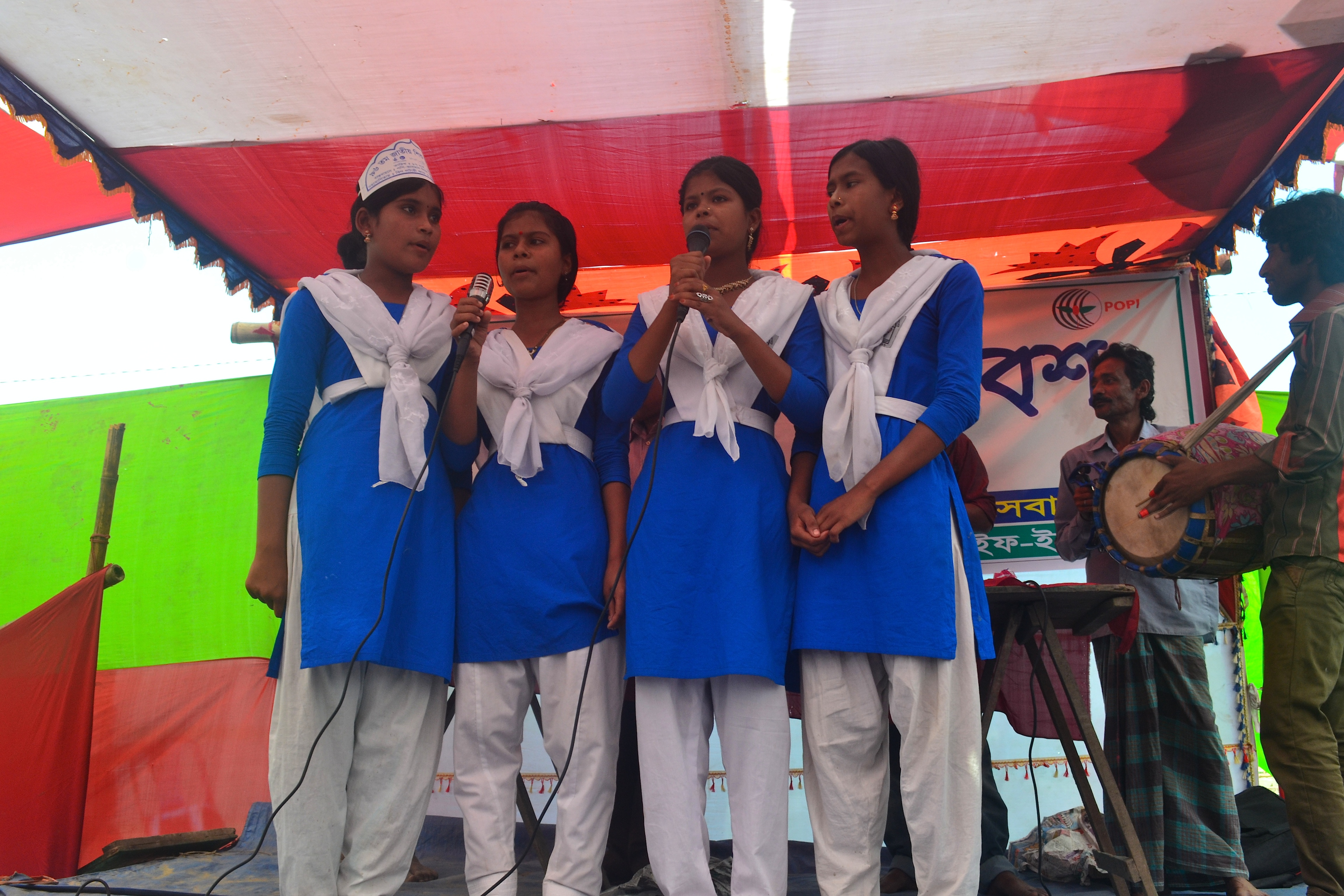 Children Performing at the meet