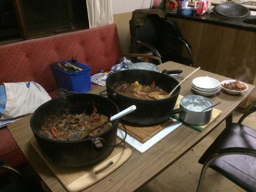 Camp meal served up
