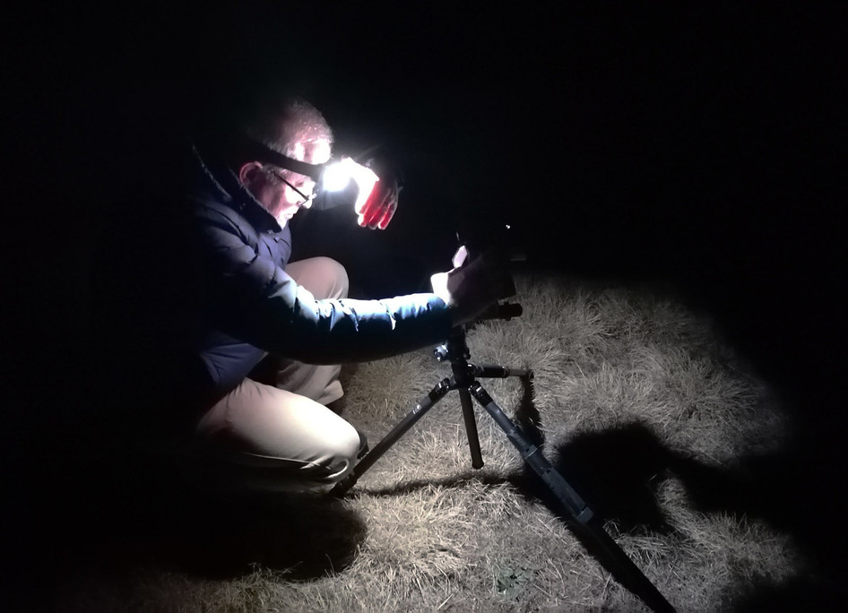 ARW photo - DMc doing astrophotography