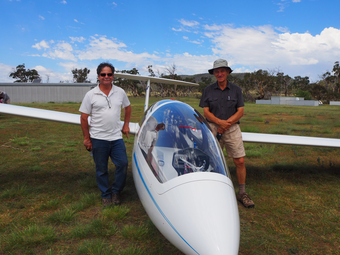 The newest addition to our Club (the glider, not the people).