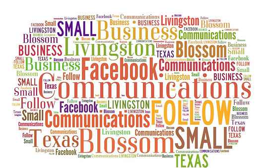 Wordcloud on small business communication