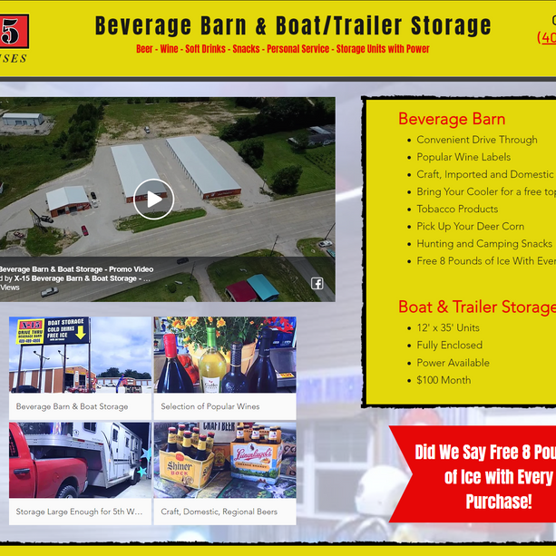 X-15 Beverage Barn and Boat Storage with