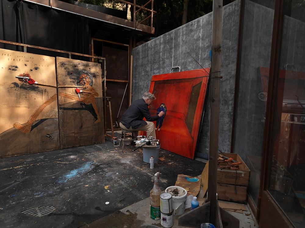 David Lynch in his Studio
