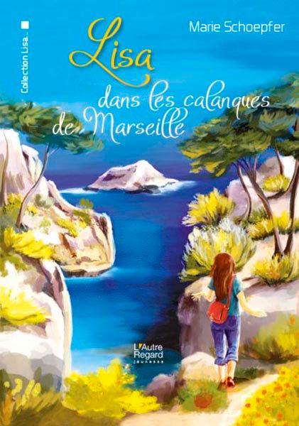 Lisa dans les calanques de Marseilles