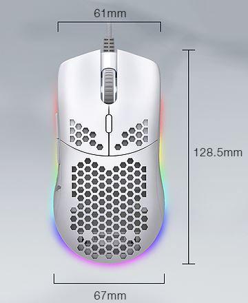 Tecware EXO ELITE (WHITE) RGB Gaming Mouse