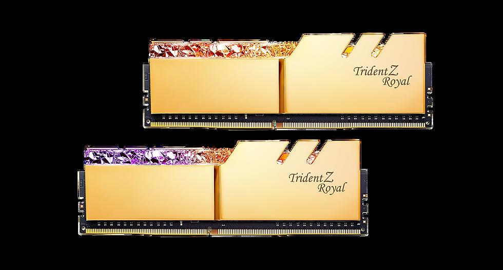 G.SKILL TRIDENT Z ROYAL RGB Series16GB (2x8GB) D4-3600-C18 Kit GOLD (F4-3600C18