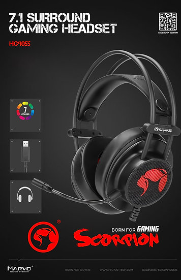 MARVO SCORPION HG9055 7.1 SURROUND GAMING HEADSET