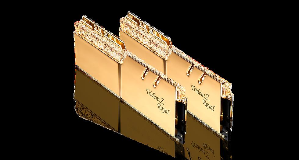 G.SKILL TRIDENT Z ROYAL RGB Series 32GB (2x16GB) D4-3600-C18 Kit GOLD (F4-3600C1