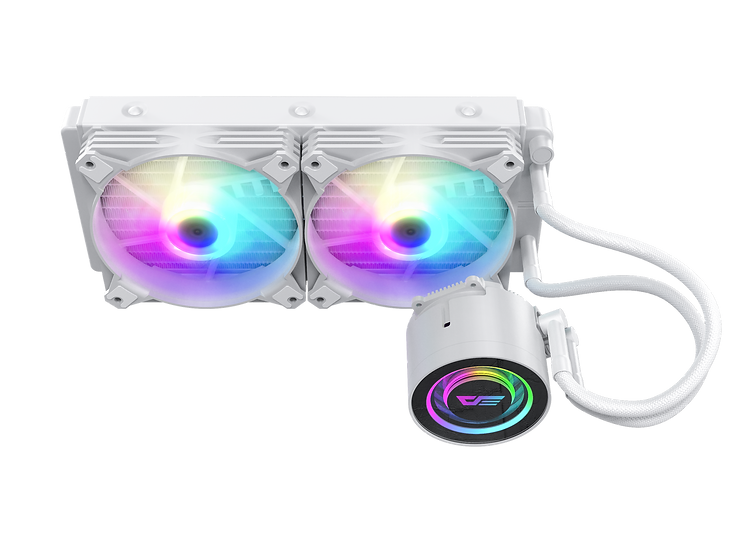 Aigo DarkFlash Twister DX240 aRGB 240L - WHITE