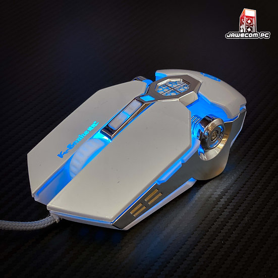 Leaven Q7 RGB Gaming Mouse - White