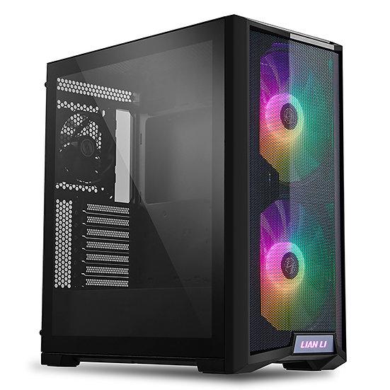 LIAN LI LANCOOL 215 X GAMING CASE Black Tempered Glass ATX Case -Black
