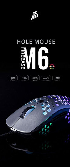 1st Player Fire Base M6 Wired RGB Gaming Mouse