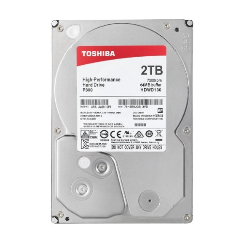 Toshiba P300 2TB Internal 3.5' Dekstop HDD