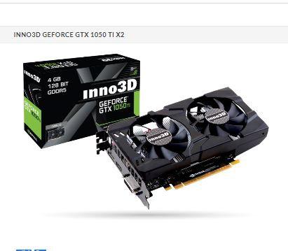 INNO3D GeForce GTX 1050 Ti Twin X2 4GB GDDR5