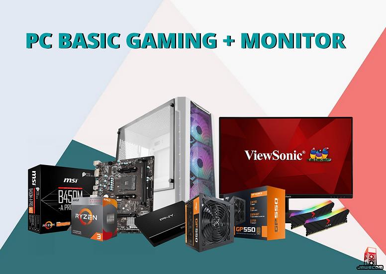 PC BASIC GAMING + MONITOR