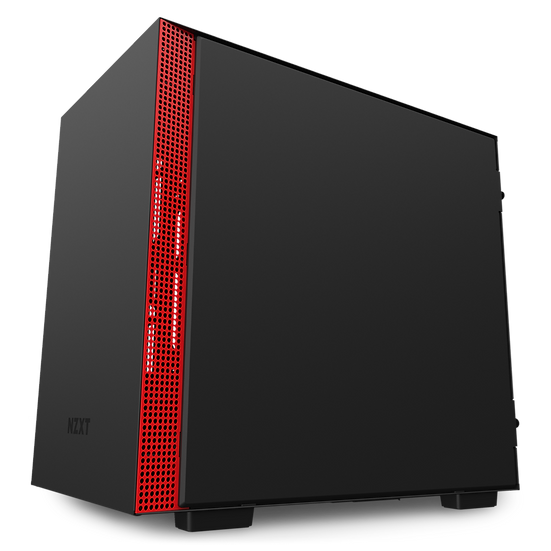NZXT H210 - MATTE BLACK / RED (ITX CASING)