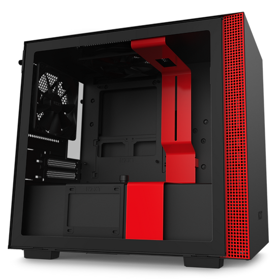 NZXT H210 - MATTE BLACK / RED (ITX CASING)