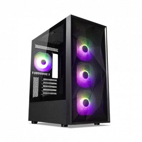TECWARE FORGE S TG ARGB BLACK ATX GAMING CASE ( Free 4 RGB Fans )
