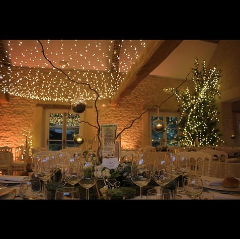 Ciel de lumières au domaine des granges et arbre lumineux