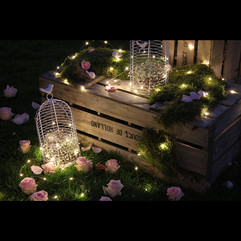 Guirlande led, cages, caisses