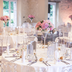 Table dressées avec vase Martini