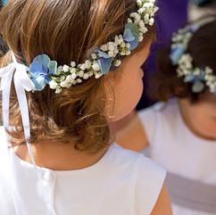 couronne fleurs et gypsophyle