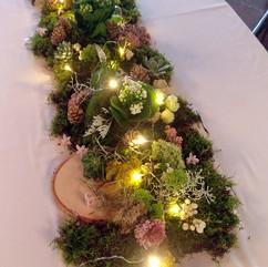 Centre de table végétal et lumières led