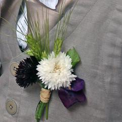 Boutonnière fleurs et blé
