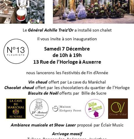 Inauguration chalet N°13 fleuriste Auxer