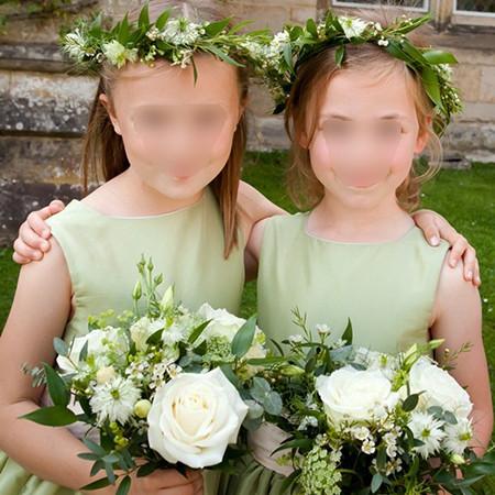 couronne de fleurs et bouquet