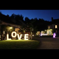 Letres LOVE à la location