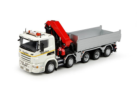 Hagedorn  Scania G-serie tipper with crane