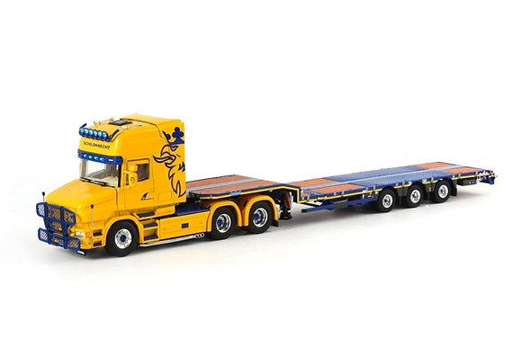Schildknecht  Scania T4 Nooteboom Low Loader Semi (3 axle)