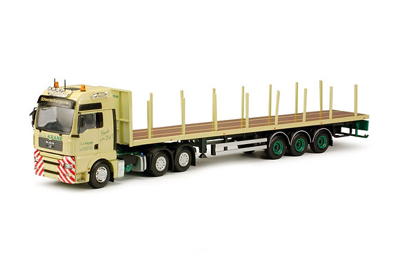 Krane H.N.   MAN TGA XXL with flat trailer