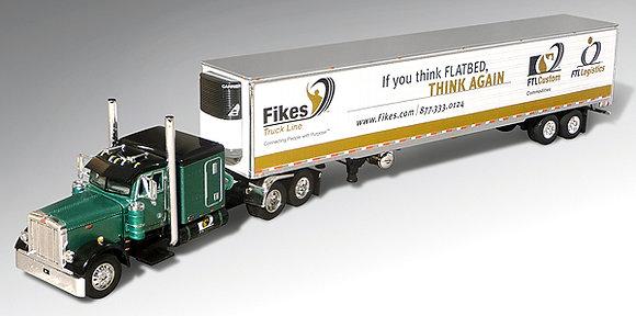 * Fikes Trucking (FTLCustom) Peterbilt Model 379 Tractor w/ Refrigerated Trailer