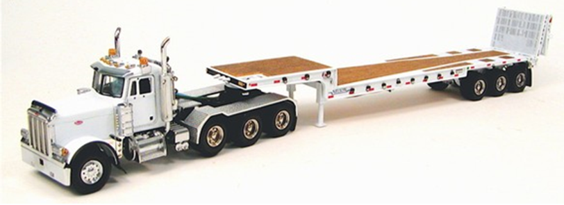 Sword - Peterbilt 379 Day Cab with Nelson Ramp Trailer -White