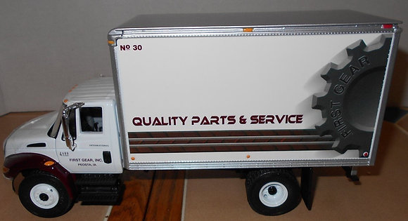International 4400 Series High Performance Truck with First Gear Parts Logo