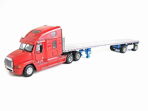 """Freightliner Century Tractor w/ East Flat Bed Trailer """"RED"""""""